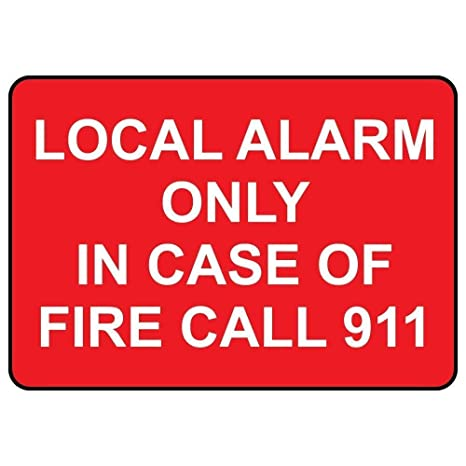 YASMINE HANCOCK Local Alarm Only In Case of Fire Call 911 ...