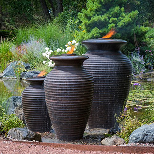 Aquascape Rippled Urn Water Fountain for Outdoor, Landscape and Garden, Medium, 45-inch H | 78242 ()
