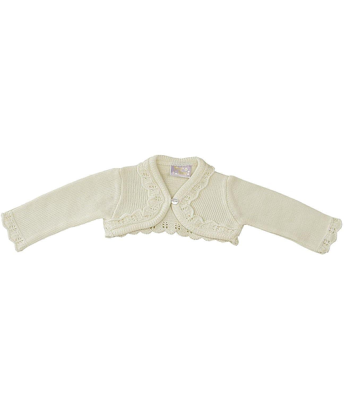 BabyPrem Babykleidung 0 - 23 Monate Bolero Strickjäckchen Pullover Rüschen Rosa Creme BEE003