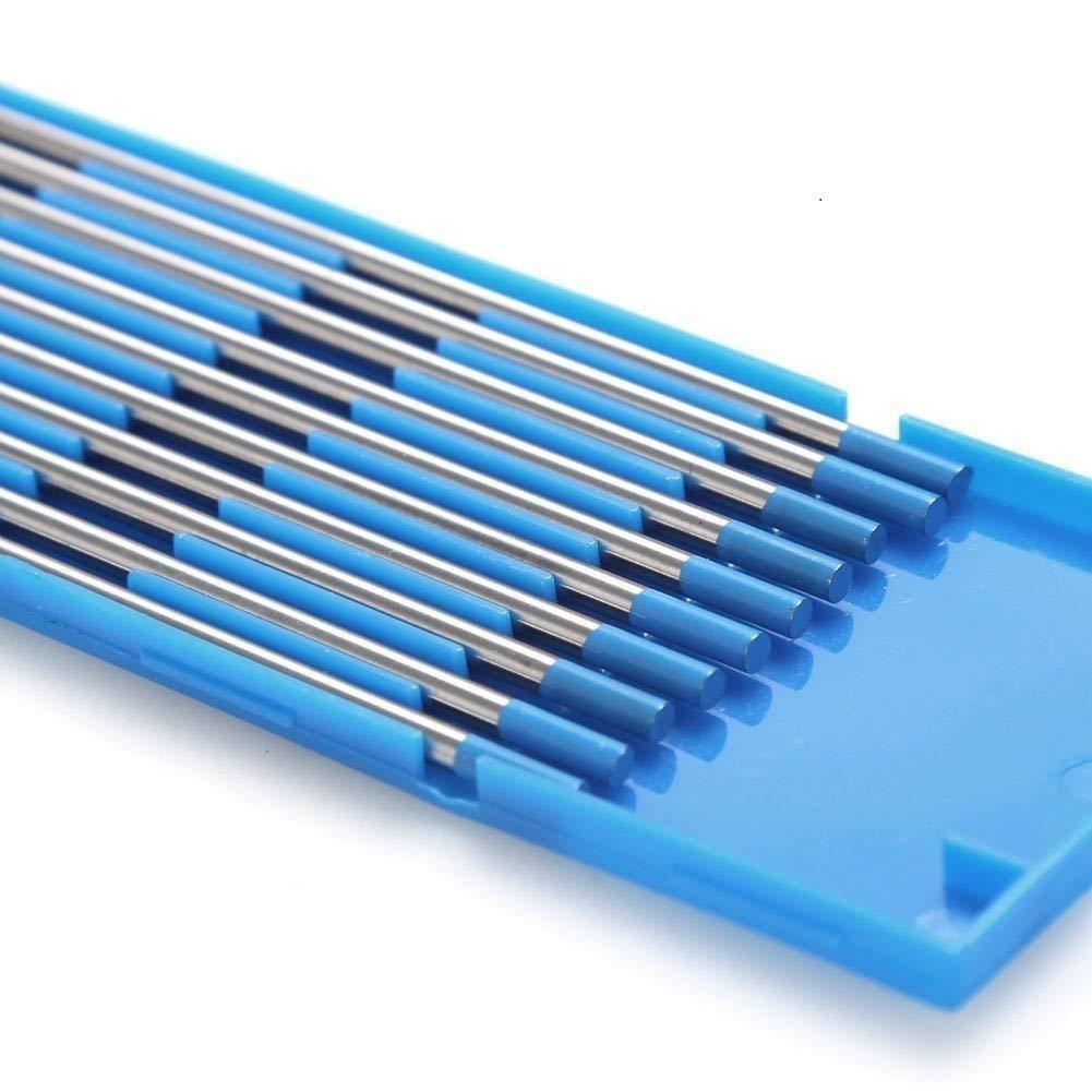 Blau TEN-HIGH WIG Wolfram Elektrode WL-20 1,6 x 150 mm 10x Wolframnadeln f/ür WIG Schwei/ßen