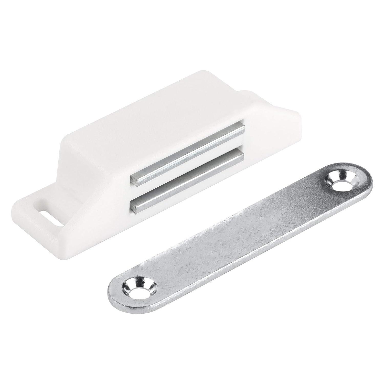 Haltekraft 8kg Balkont/&uum Magnet Schrankt/ür LouMaxx XL Magnetschn/äpper T/ürmagnet M/öbelmagnet 4er Set in braun Magnetverschluss Magnetschloss Magnet-T/ürschlie/ßer