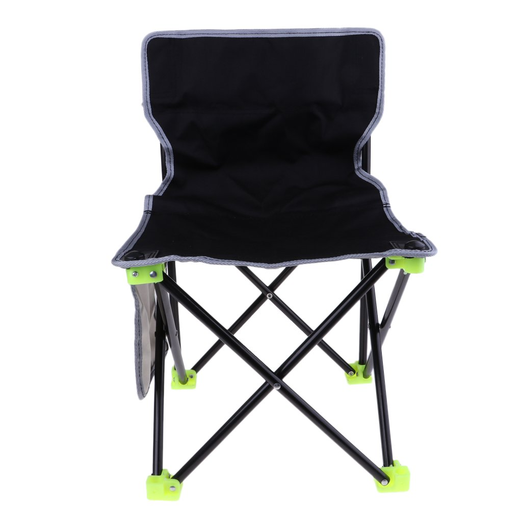 Baoblaze Folding Chair Outdoor Foldable Chair Lightweight Foldable Seat Stool Seating for Travel Beach Garden Party 36x36x55cm - Black, 36x36x55cm