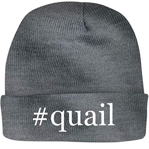 SHIRT ME UP #Quail - A Nice Hashtag Beanie Cap, Grey, OSFA (Best Quail To Raise)
