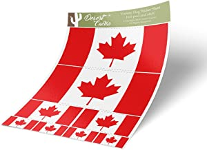 Canada Canadian Country Flag Sticker Decal Variety Size Pack 8 Total Pieces Kids Logo Scrapbook Car Vinyl Window Bumper Laptop V