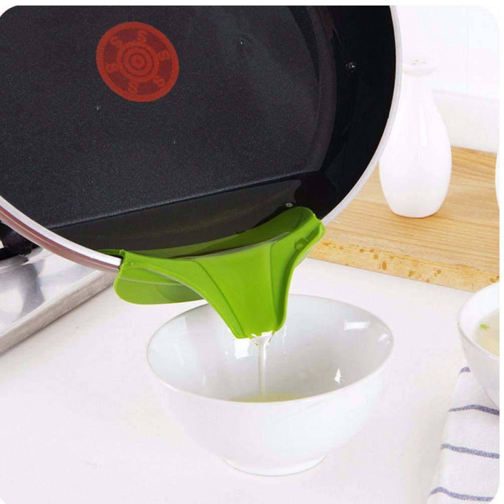 PiniceCore Verter la Sopa en Boquilla Anti-derrame de Silicona Embudo Slip Creativo para sartenes ollas y Cuencos y jarras Herramienta de utensilio de Cocina