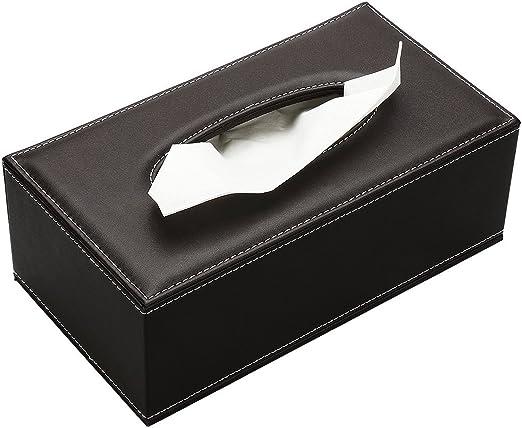 Meta-u - Caja de pañuelos de piel sintética con tapa magnética ...
