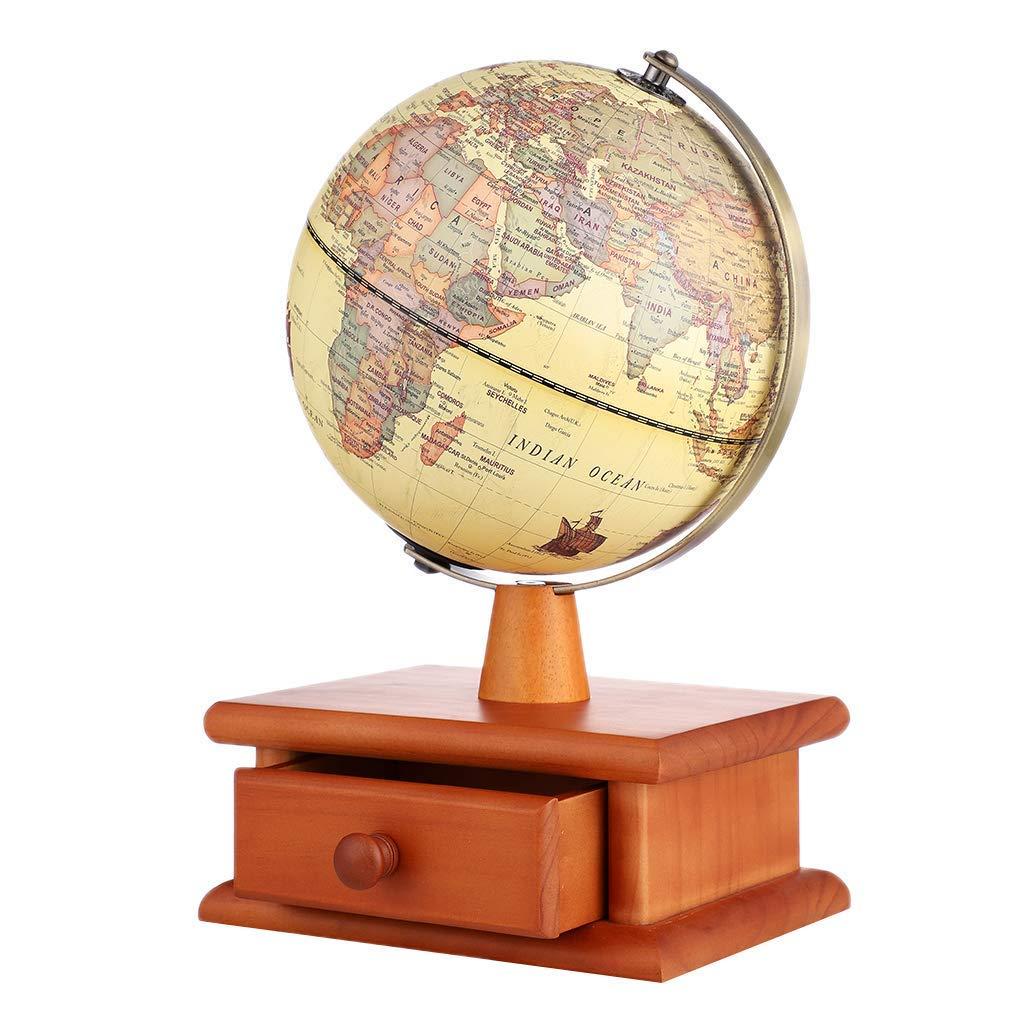 Globus Weltkugel Karte.Spielzeug Backbayia Beleuchtete Rotierende Desktop Geografie Globus