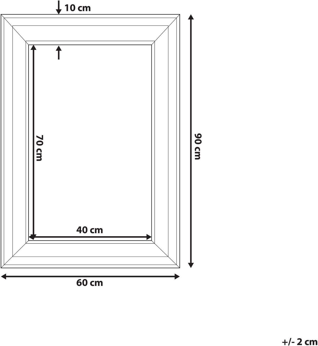 su misura ad esempio come specchio da salone Online GalleryKing TheMIRROR Specchio con cornice in vero vetro cm Pino nero. 30 x 30 cm specchio. colore pino nero ecc. legno MDF