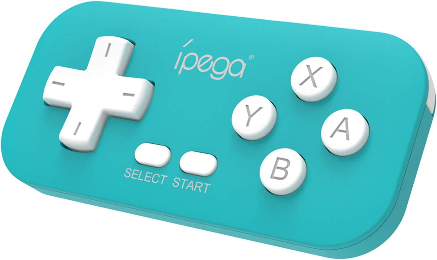 IPEGA PG-9193 Wireless Gamepad for Nintendo Switch, with Cute Lanyard, Supports Six-Axis and Vibration Function, Game Wireless Mini Controller for Steam, PS3, Android & PC - Turquoise