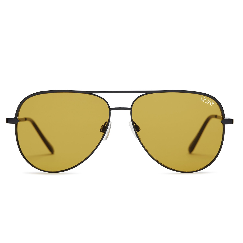 7f554f90ad Amazon.com  Quay Australia SAHARA Women s Sunglasses Oversized Aviator  Sunnies - Black Purple  Clothing