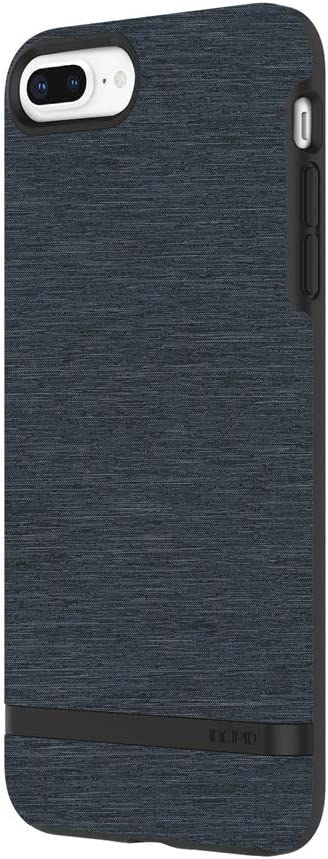 Incipio Carnaby iPhone 8 Plus & iPhone 7 Plus Case [Esquire Series] with Co-Molded Design and Ultra-Soft Cotton Finish for iPhone 8 Plus & iPhone 7 Plus - Blue