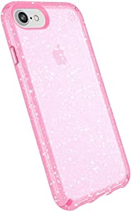 Speck Products Presidio Glitter Case for iPhone 8 Plus, iPhone 7 Plus, and iPhone 6/6S Plus - Bulk Packaging - Bella Pink Clear/Gold Glitter