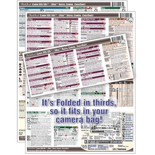 PhotoBert Photo CheatSheet for Canon EOS 5DS/5DS R Digital SLR Camera by PhotoBert
