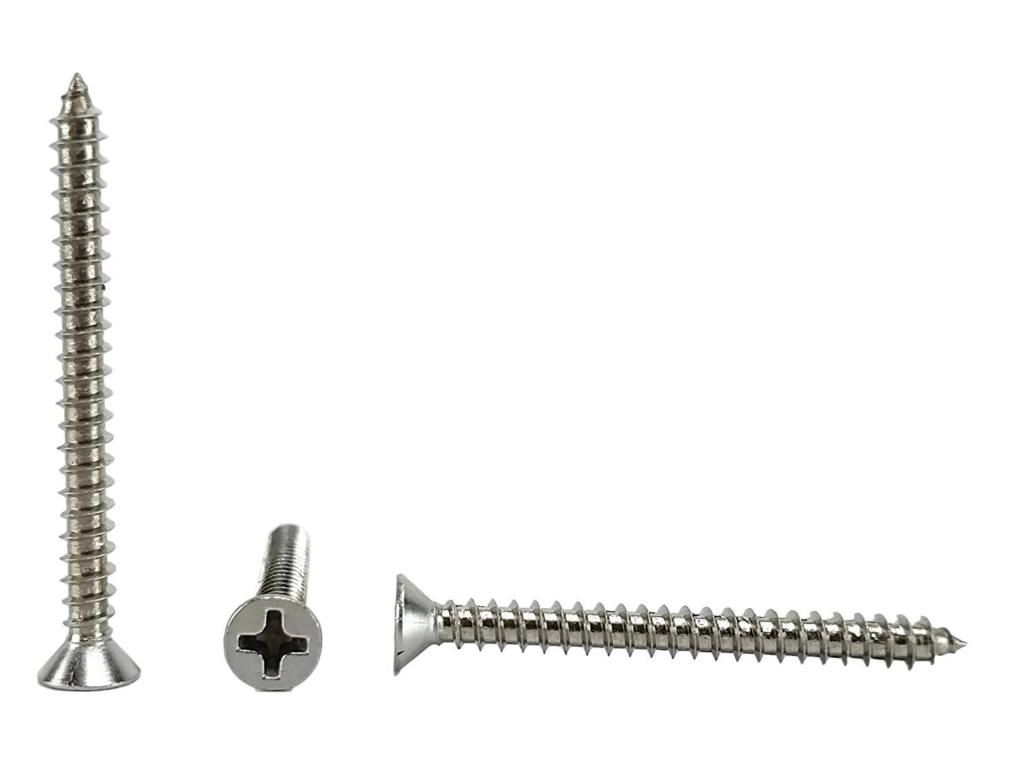 #6 X 1-1/2'' Stainless Phillips Flat Head Sheetmetal Screw (3/8'' to 2'' in Listing) 100 Sheet Metal Screws, 82 Degrees (#6 x 1-1/2)