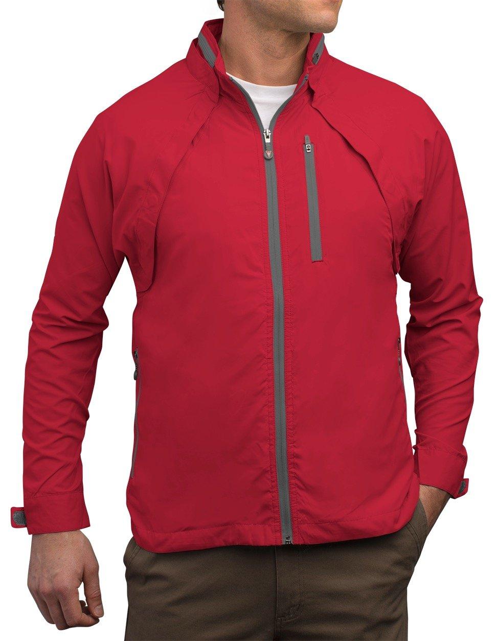 SCOTTeVEST Tropiformer Jacket - 22 Pockets – Convertible, Travel Clothing RED L by SCOTTeVEST