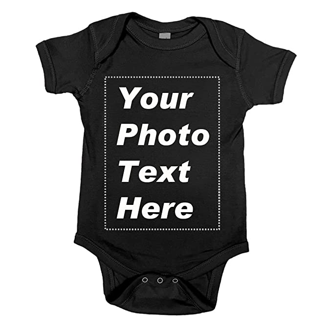 3645bf267749 Baby Onesie Custom Name or Picture for Boys Girls,100% Cotton (0-