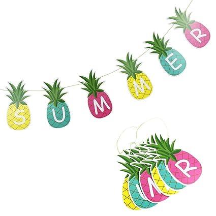 Amazon Com Sunbeauty 1 5m Colorful Summer Pineapple Banner Luau