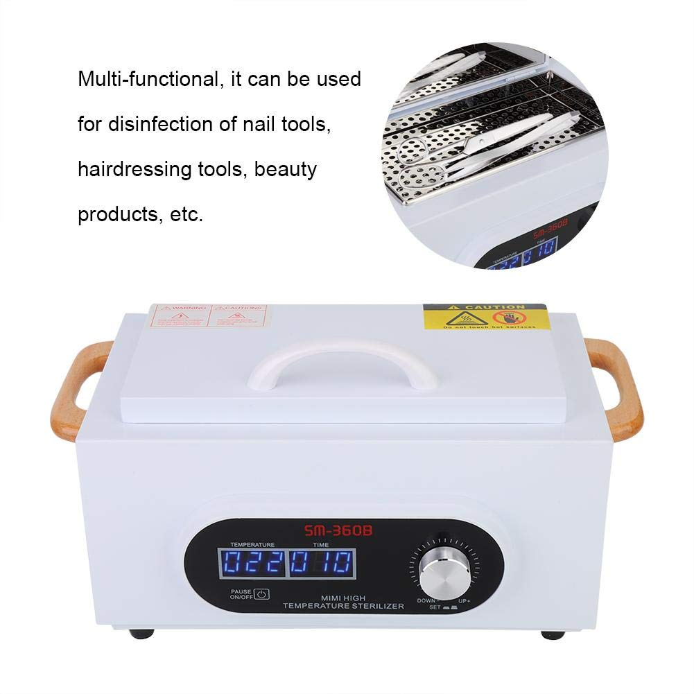 Machine de st/érilisation doutil de manucure de st/érilisateur /à hautes temp/ératures de Cabinet de d/ésinfection d/écran de Woyisisi LCD 01