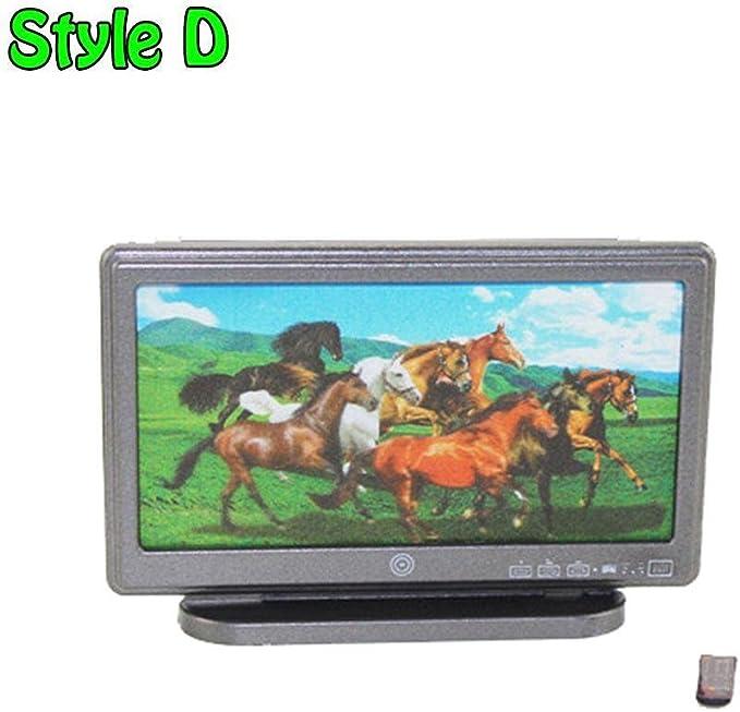 Lonngzhuan 1 pieza de 1:12 con mando a distancia, pantalla ancha para televisor, pantalla plana, pantalla LCD, juguete para casa o casa de muñecas: Amazon.es: Hogar