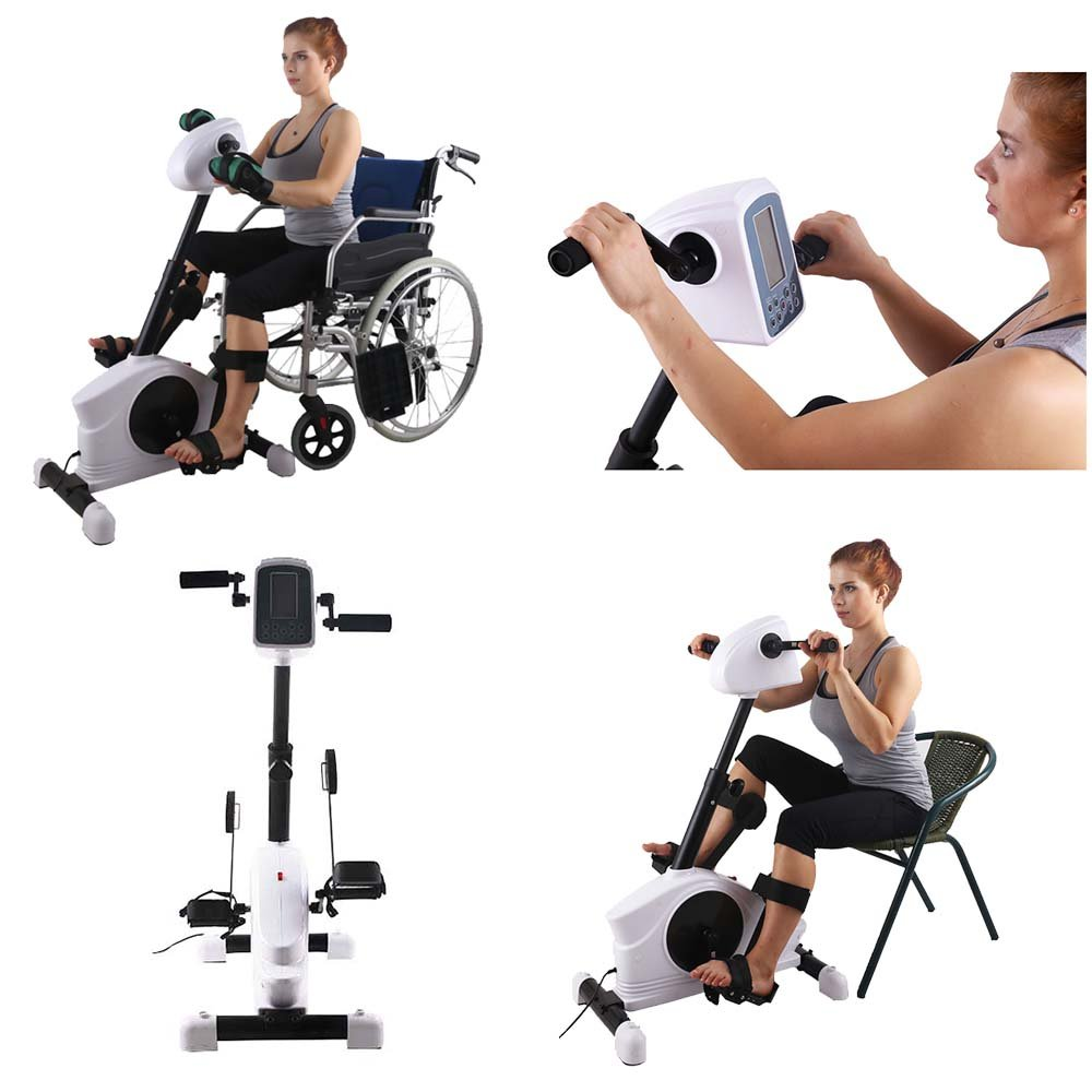 Hand physical therapy equipment - Amazon Com Konliking 180w Electronic Physical Therapy And Rehab Bike Pedal Motorized Trainer For Handicap Disabled And Stroke Survivor Sports