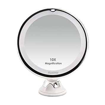 Auxmir 10x Lighted Magnifying Makeup Mirror Vanity Mirror With
