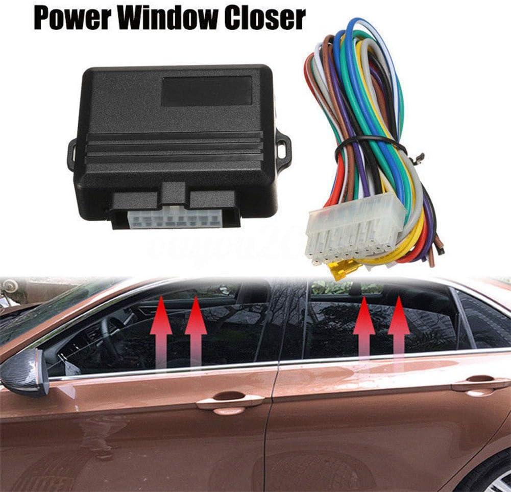 XuBa Universal Auto Power Window Roll-Up Closer f/ür 4 T/üren Auto Close Fenster Auto Alarm Modul Schutz Auto Alarmanlagen