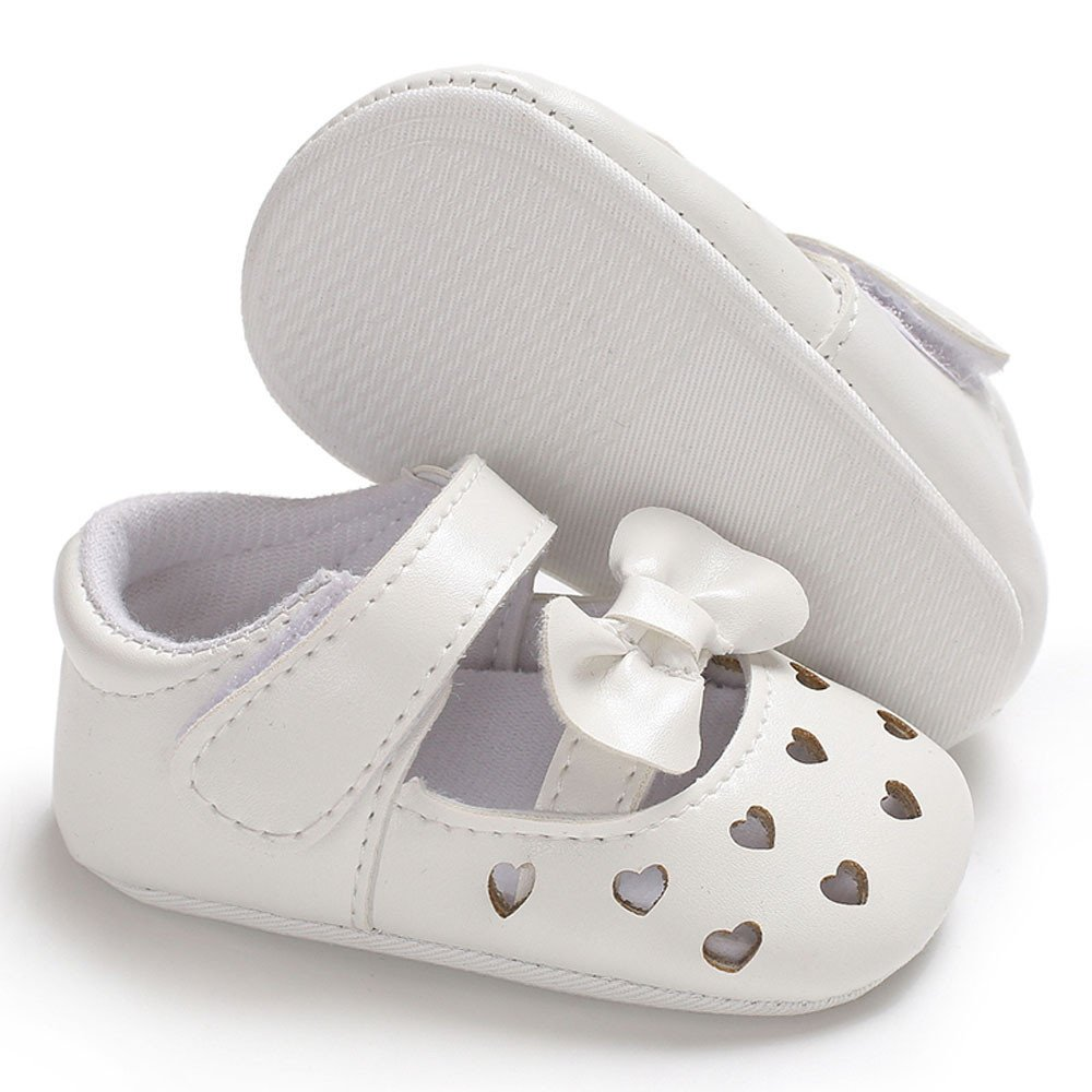 Lurryly Baby Infant Kids Girl Leather Soft Sole Crib Toddler Newborn Shoes 0-18 M