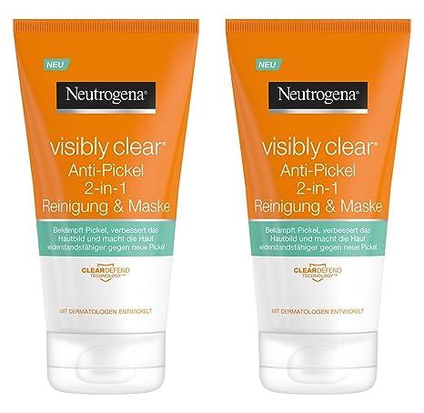 Neutrogena visibly Clear – Herramienta de 2 en 1 Lavado & Máscara/limpieza y máscara
