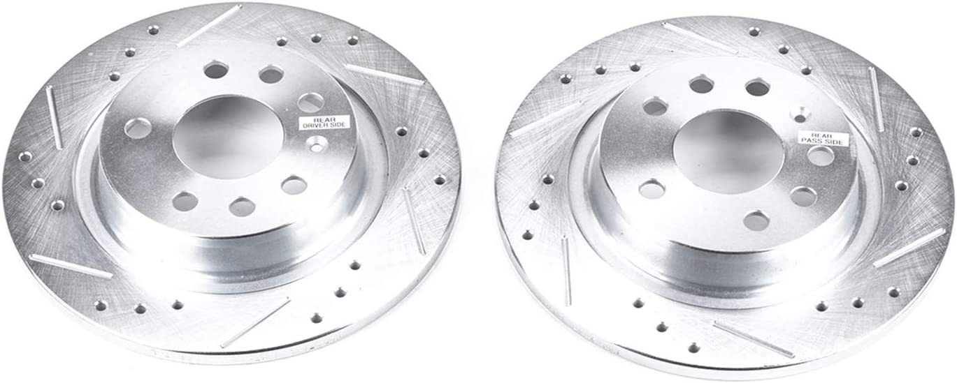 Power Stop EBR679XPR Rear Evolution Drilled /& Slotted Rotor Pair