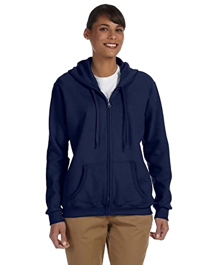 Gildan Heavy Blend Ladies 8 oz. 50/50 Full-Zip Hood at Amazon Womens Clothing store: