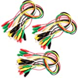 Gebildet 30 Pieces Test Leads with Alligator Clips Set Insulated Test Cable Double-Ended Clips (50cm)