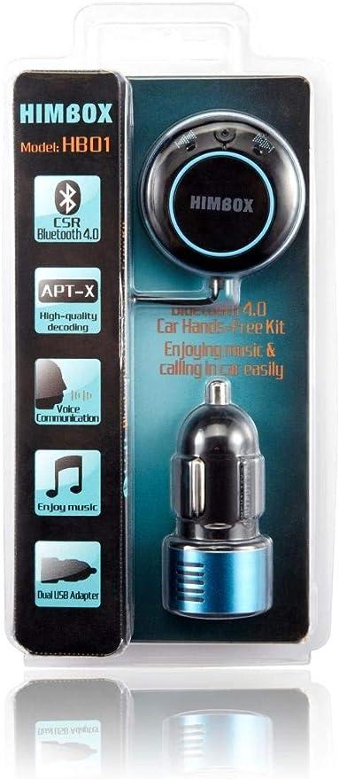 m/úsica y Manos Libres - Kit Bluetooth 4.0 para Radio de Coche y Hi-Fi Purple Rii HimBox HB01