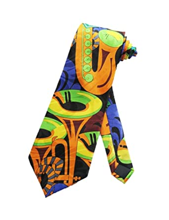 Steven Harris Hombres Bourbon Street Jazz música corbata - Azul ...