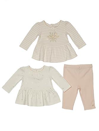 f993d06d5621a Nautica Toddler Girls' Peplum Tops with Pant Three Piece Set, Blush Pink 2T