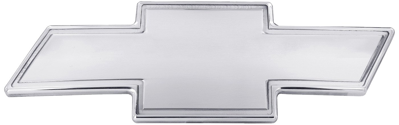 All Sales 96141P Chevy Grille Emblem with Border ,Silver