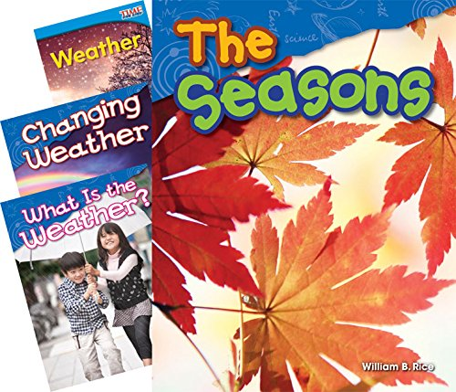 Teacher Created Materials - Classroom Library Collections: Weather & Seasons - 4 Book Set - Grades K-1 - Guided Reading Level A - F