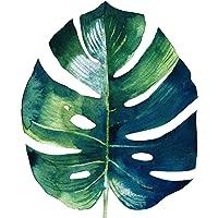 super1798 Hojas de Plantas Tropicales Sin Marco Cuadro Pintura Arte Casa Moderno Día de Fiesta Decoración Cartel 3# 30 * 30 cm