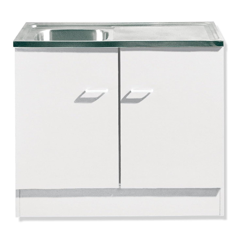 ROLLER Spülenschrank WIEN - weiß - inklusive Auflagenspüle: Amazon ...