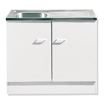 ROLLER Spülenschrank Wien - weiß - mit Spüle - 100x50 cm: Amazon.de ...