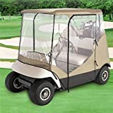 Golf Cart Enclosure Cover AUXMART 4 Sided Drivable Golf Cart 2 Person for Yamaha Drive, Club Car Precedent & EZ-GO TXT & RXV Lines