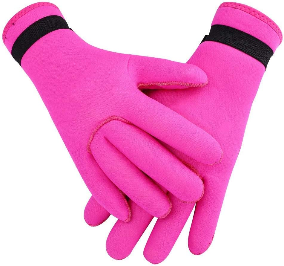 Warm Thermal Five Finger Gloves Surfing Anti-Skid Glove for Stream Tracing Kayaking Snorkeling Surfing 4 Colors Diving Traveling Swimming Beach Neoprene Diving Gloves for Men Women