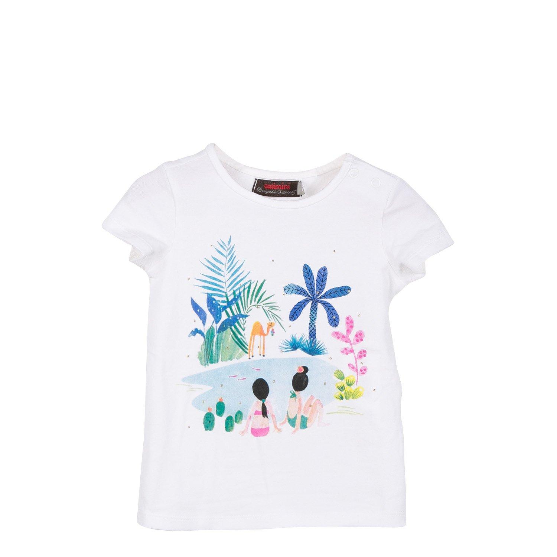 Catimini TS MC Oasis, T-Shirt Bébé Fille T-Shirt Bébé Fille Écru (Nacre) 2 Ans (Taille Fabricant: 2A) CL10193