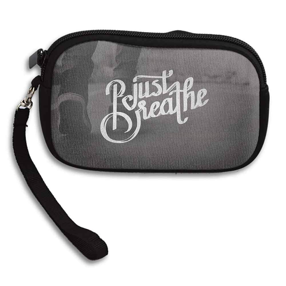 Just Breathe Change Purse Teenager in Sneakers Walking on a Street Youth Culture Urban Scene W 5.9x L 3.7 Pattern Wallet Exquisite Gift