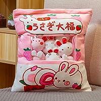 PLSUS Plus Mini Dolls Pudding Plush Toys, Cute Cat Snack Pillow Pudding, Soft Snack Bag Pillow Cushion, Birthday Gift-C