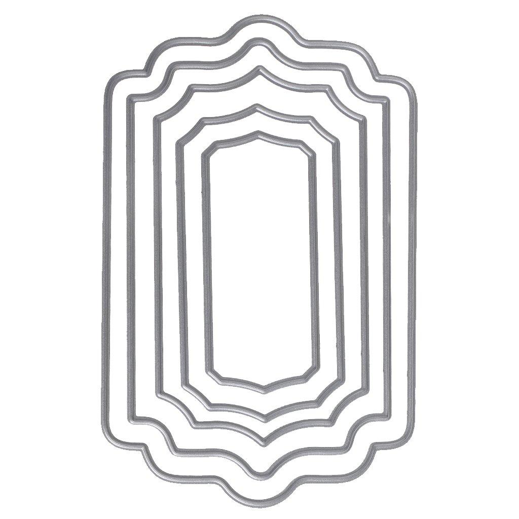 Dekoration WuLi77 Rechteck Metall Stanzschablone Die Stanzen Zum Basteln Von Karten Pr/ägeschablone F/ür Scrapbooking DIY Album Papier Kunst Karten