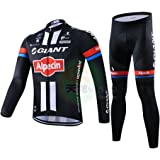 Strgao 2016 Men s Pro Team MTB Bike Bicycle Winter Thermal Cycling Long  Sleeve Jersey and Pants 6d037b849