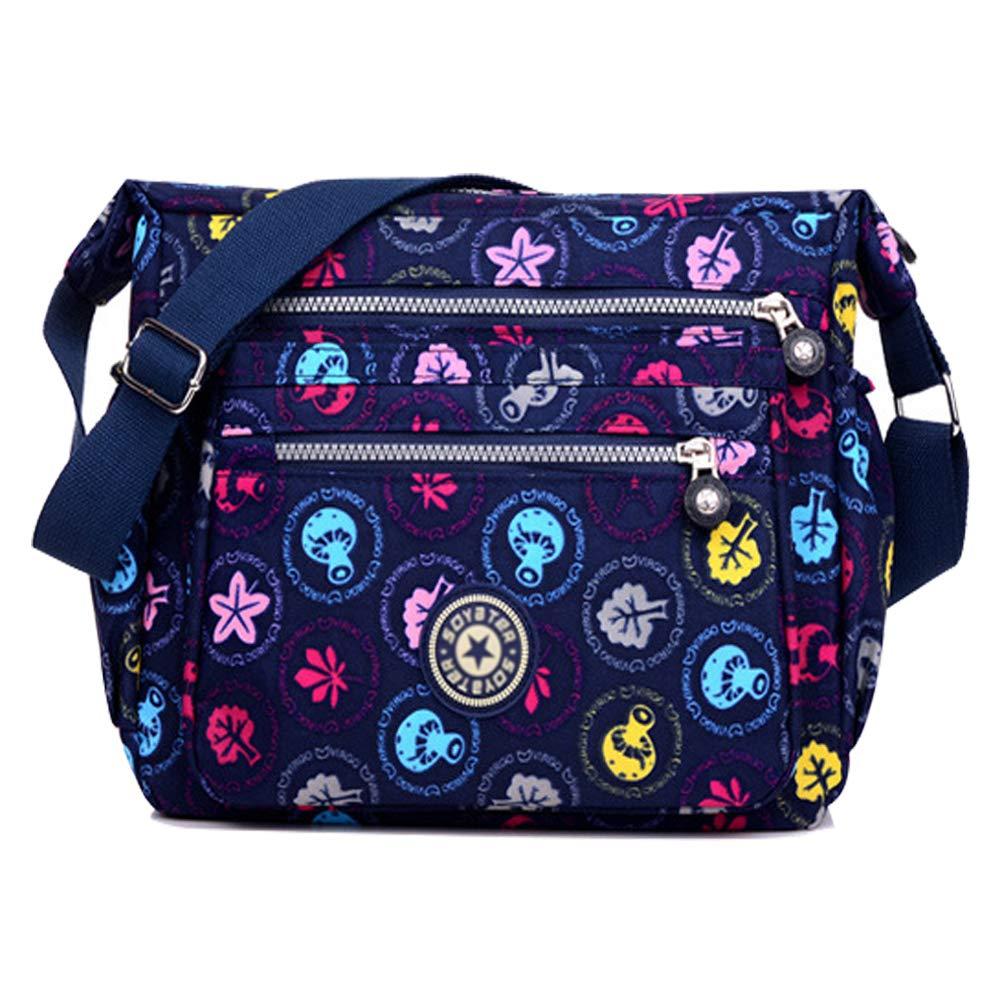 Nylon Crossbody Purse Multi-Pocket Waterproof Travel Shoulder Handbags Fashion Messenger Bags for Women
