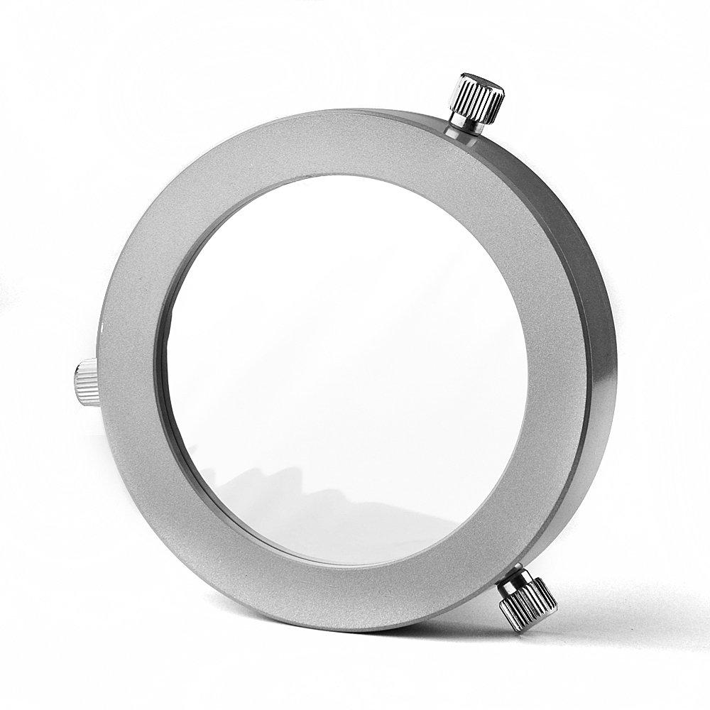Solomark Deluxe Metal Adjustable 66-94 mm Inside Diameter Solar Filter, Baader Planetarium Film, for 66-94mm Aperture Telescopes