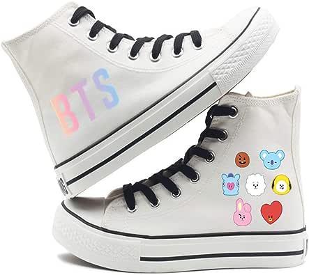 Amazon.com   BTS Shoes Sneakers Prime for Women Men Girls Boys Bt Youth Army White BT21 RJ Jimin ...