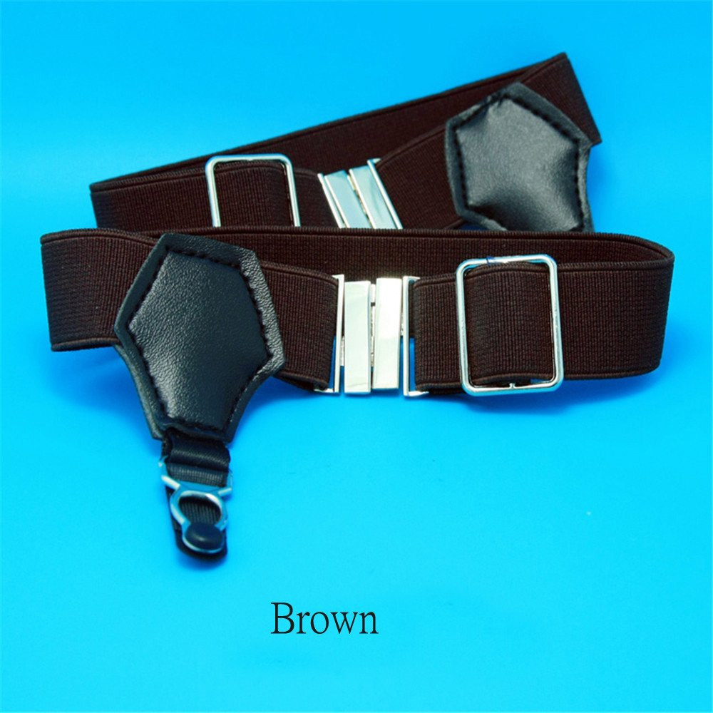 1Pair Sexy Men's Sock Garters Pin Grip Suspender Accessories Brown DOREKIN